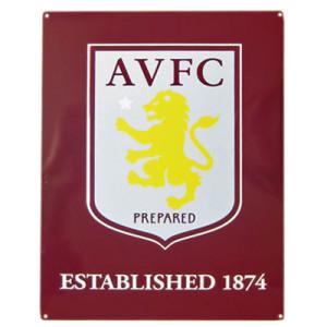 Plechová cedulka Aston Villa FC