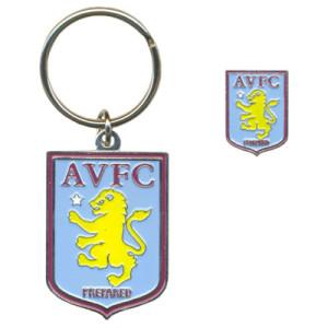 Sada odznak a přívěšek na klíče Aston Villa FC