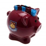 Pokladnička prasátko West Ham United FC (typ s čírem)